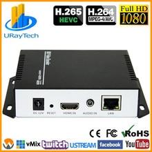 Encodeur vidéo en direct HEVC MPEG4 HDMI vers IP encodeur H.264 RTMP encodeur HDMI IPTV H.265 avec HLS HTTP RTSP UDP RTMPS SRT