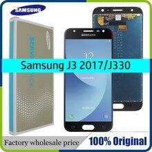 """Oryginalny 5.0 """"dla SAMSUNG Galaxy J3 2017 J330 J330F J3 PRO wyświetlacz LCD nie martwy piksel ekran dotykowy Sigitizer zgromadzenie wymiana"""