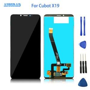 Image 1 - 5.93นิ้วCUBOT X19จอแสดงผลLCD + Touch Digitizer Assembly 100% Originalอุปกรณ์เสริมสำหรับโทรศัพท์มือถือสำหรับCUBOT X19S