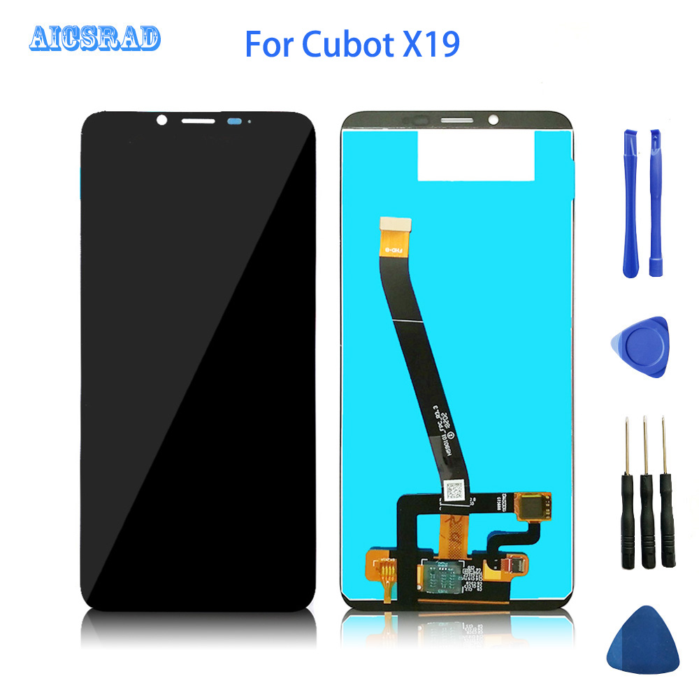 5.93 inch Voor cubot X19 Lcd-scherm + Touch Screen 100% Getest LCD Digitizer Glass Panel Vervanging Voor cubot X 19 title=