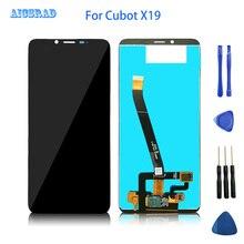 Cubot x19 lcd 디스플레이 + 터치 스크린 용 5.93 인치 cubot x 19 용 100% 테스트 된 lcd 디지타이저 유리 패널 교체