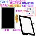 Starde A CRISTALLI LIQUIDI per Samsung Galaxy Tab 3 Lite T113 SM-T113 Wifi Versione Display LCD di Tocco Digitale Dello Schermo di Senso con Trasporto strumenti