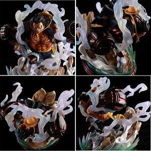 Image 4 - Japon animesi tek parça şekil tek parça Luffy heykeli PVC aksiyon figürü oyuncakları GK Luffy şekil dekorasyon modeli oyuncaklar çocuk hediye