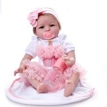 Washable Newborn Reborn Baby Girl Doll Educational Toy Body Dolls Comfort Dolls