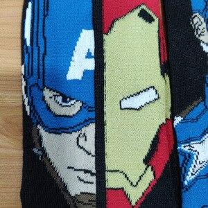 Image 5 - 10 Pairs/Pack Comics Hero General Socks cartoon Iron Man Captain America Knee High Warm Stitching pattern increase size Big Sock