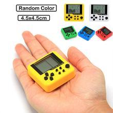 Portátil Mini juegos clásicos Tetris consolas de bolsillo para niños juegos electrónicos para mascotas máquina Tetris ladrillo para juegos llavero Juguetes