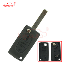 2 buttons silicone car key case cover flip remote car key holder shell fob for citroen c2 c3 c4 c8 peugeot 308 207 307 3008 5008 Kigoauto CE0536 remote key case replacement 3 button HU83 for Citroen C2 C3 C4 C5 flip key shell for Peugeot 207 307 407 408