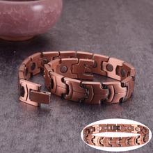 Fashion Pure Copper Bracelet Magnetic Therapy Arthritis Pain