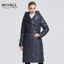 MIEGOFCE 2019 New Winter Womens Collection Women Winter Jacket Coat Unusual Design Sewn From Two Materials Womens Parkas