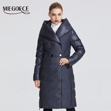MIEGOFCE 2019 ฤดูหนาวใหม่ผู้หญิงคอลเลกชันผู้หญิงฤดูหนาวเสื้อแจ็คเก็ตที่ผิดปกติออกแบบเย็บสองวัสดุผู้หญิง Parkas