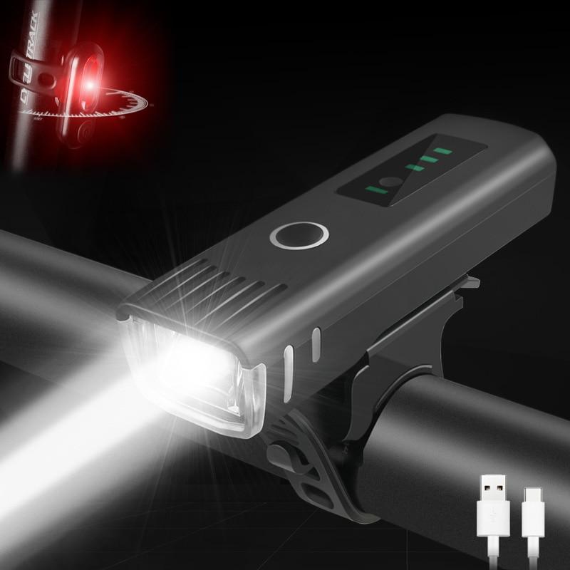 400 Lumen Flashlight For Bicycle Anti-glare Smart Bike Light USB Rechargeable MTB Front Lamp Cycling Headlight Bike Accessories