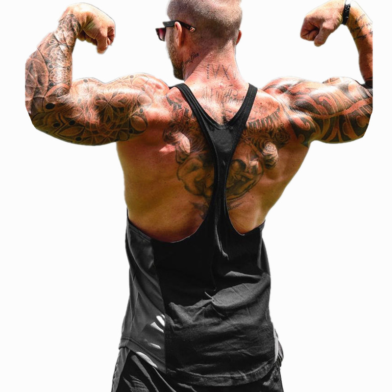 New tank top men Sleeveless shirt gyms clothing bodybuilding fitness cotton breathability vest jogging casual printing tops in Tank Tops from Men 39 s Clothing