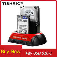 TISHRIC All in 1 Hdd Docking Station eSATA to USB 2.0/3.0 Adapter For 2.5/3.5 Hard Disk Drive Docking Station Hard Enclosure