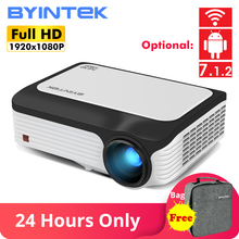 BYINTEK M1080 Smart (2GB+16GB) Android WIFI FULL HD 1080P Portable LED Mini Projector 1920x1080 LCD Video For Iphone For Netflix стоимость