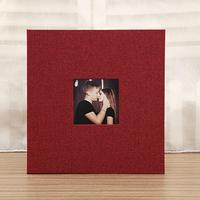 Creative Linen Cover Picture Album Self-adhesive Film DIY Handmade Memory Photo Book Home Birthday Decor Love Gift