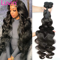 Luvin 28 30 32 40 Inch Brazilian Body Wave raw Human Hair Bundles Remy Hair water wave bundles Weaves Deals Wholesale tissage 1