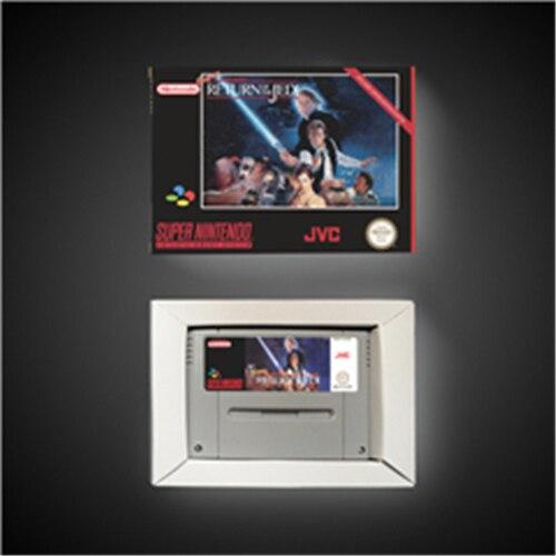 Super star game wars retorno do jedi cartão de jogo de ação versão eur com caixa de varejo