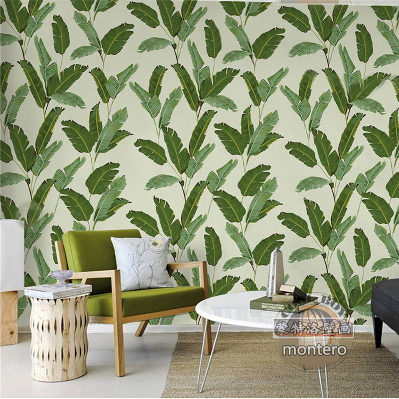 Southeast Asia Plant Torrid Zone Rainforest Wallpaper Bedroom Sofa Wall Wallpaper Seamless Large Mural Wall Cloth