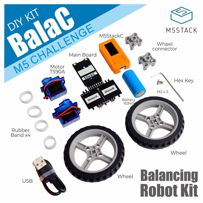 M5stack balac oficial diy roda dupla balanceamento carro baseado em esp32 + stm32 a bordo dois motor-driven ics