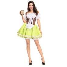 Oktoberfest Dresses Women Dirndl German Beer Maid Costumes Female Sweet Sexy Girl Carnival Fancy Halloween Dress Up