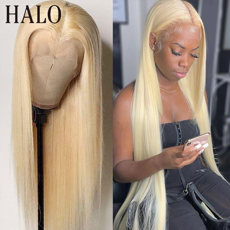 28 30 Polegada 613 loira 13x4 encerramento peruca remy transparente frente do laço perucas de cabelo humano para a mulher preta reta glueless pré arrancadas
