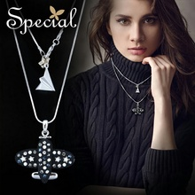 Special New Fashion Stylist Necklaces & Pendants Multi-layer Maxi Necklace Statement Jewelry Gifts for Women S1614N