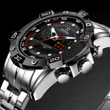 Readeel Analoge Digitale Horloges Mannen Luxe Merk Rvs Sport Heren Horloges Waterdicht Man Horloge Relogio Masculino(China)