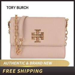 Autêntico e Original & Nova Marca de Luxo de Couro Tory Burch Cadeia Crossbody Bag 48292
