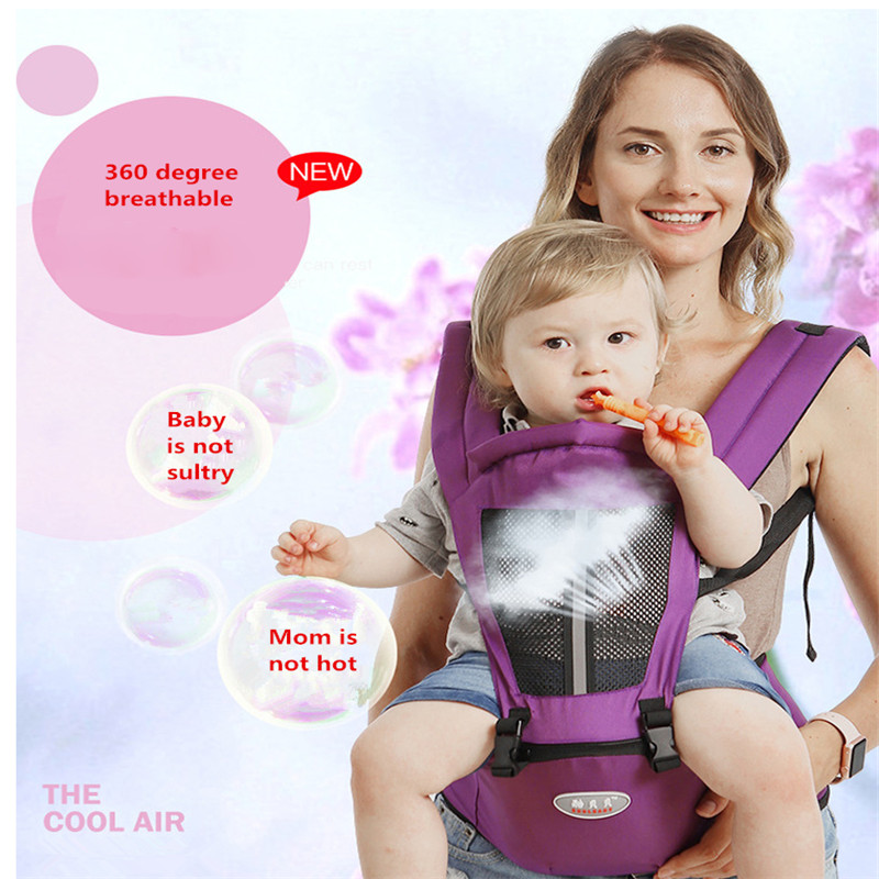 2019 Infant Hip Seat Newborn Waist Hip Seat Wrap Belt Sling Backpack Front Back Chest Multifunction Breathable Carriers