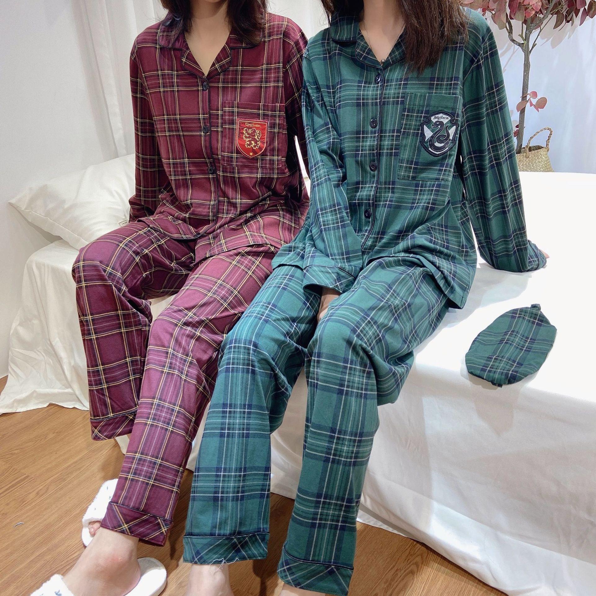 Новинка! Пижама для косплея для мужчин и женщин, летняя, зимняя, ретро, клетчатая, хлопковая, ночная рубашка для дома, одежда для сна C58M23|Костюмы аниме|   | АлиЭкспресс