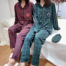 ¡Nuevo! Pijama Retro de algodón a cuadros para hombre y mujer, Cosplay, verano e invierno, para casa, C58M23