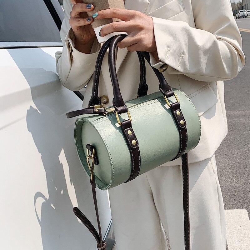 Bolso de cuero de moda Boston para mujer, bolsa cruzada, marca famosa, novedad de verano, 2020