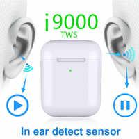I9000 Tws 1:1 inalámbrico Sensor Bluetooth Smart auriculares Bass Pop PK H1 W1chip i120 i100 i500 i2000 TWS