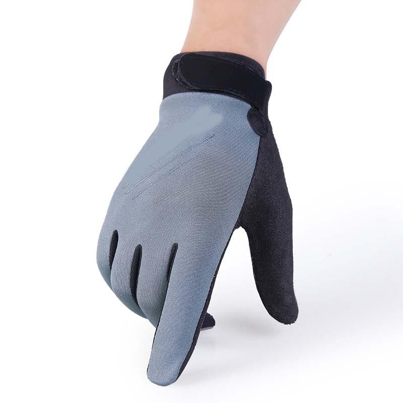 Men's Winter Full Finger Plus Velvet Warm Non-slip Knit Touch Screen Gloves