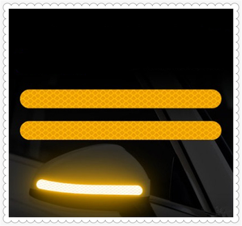 2PCS car sticker rearview mirror reflective strip Auto parts for Tesla Suzuki Isuzu Daihatsu Aston Martin Volvo Mazda image