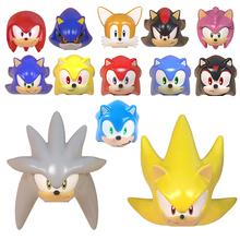 Sonic figurki zabawki klocki Sonic Head jeż cień ogony postacie zabawki figurki akcji dla dzieci zwierzęta cegły tanie tanio Unisex 6 lat Mały budynek blok (kompatybilne z Lego) Certyfikat Action Figure Accessories Building Blocks Kids Toys For Children Brick