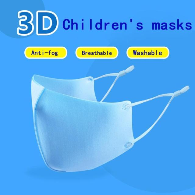 Kids Face Masks Cartoon Solid Color Kids Washable Anti-pollution Cute Kids Mouth Anti-dust Face Masks #20