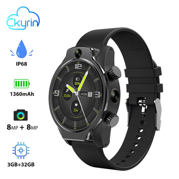 Ckyrin Kirin X Smart Watch Phone 4G SIM Dual 8MP Camera GPS WIFI IP68 Waterproof Smartwatch Men 3GB 32GB Smart Clock Android IOS 2016 new smart watch x5 with 1 4 amoled display 400 x 400 3g wifi gps dual bluetooth smartwatch for iphone sumsung xiaomi