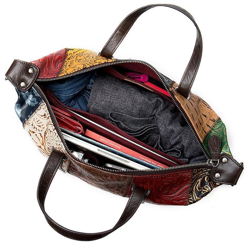 PNDME модная винтажная натуральная кожаная женская сумка дизайнерская строчка высокого качества из мягкой воловьей кожи женские дорожные су... - 5