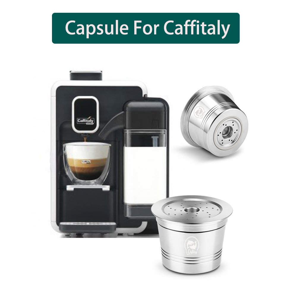 For Caffitaly Tchibo Coffee Capsule Cup  Reusable Compatible For K-fee Refillable Crema Capsule Stainless Steel Coffee Tamper