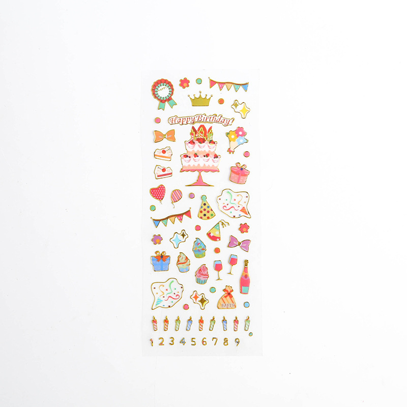 Корейские милые наклейки, штампованные прозрачные DIY дневник, ручная книга, материальное украшение, паста, детские маленькие наклейки, креативные