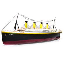 Titanic RC Boat NQD 757 1/325 2.4G 80cm Simulation Electric Ship Model with Light RTR Toys(China)