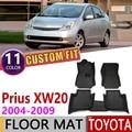 CUSTOM รถหนังสำหรับ Toyota Prius XW20 XW 20 2004 ~ 2009 5 ที่นั่งอัตโนมัติ Foot Pad พรมอุปกรณ์เสริม 2005 2006 2007 2008