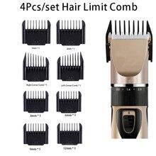 4Pcs/set Professional Limit Comb Hair Trimmer Shaver Cutting