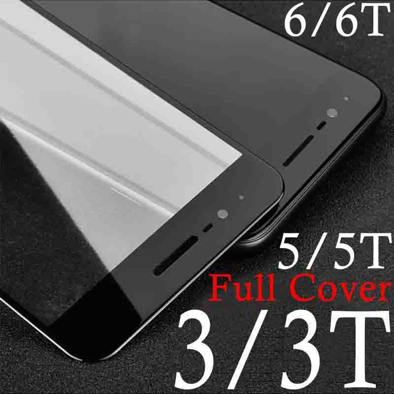 Tempered Glass <font><b>Case</b></font> For <font><b>oneplus</b></font> 3t 3 5 5T 6T <font><b>6</b></font> t Protective Glas Screen Protector On for oneplus3 oneplus3t one plus full cover image