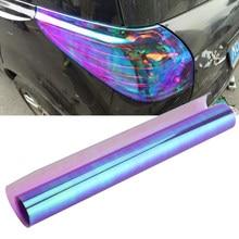 Luz Camaleón de estilo de coche, tinte de vinilo para faro trasero, película de luz para envolver la membrana del faro del automóvil, adornos para todo el coche