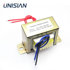 Image 1 - UNISIAN AC 18V 50Wอินพุตหม้อแปลงAC 110V 220Vเอาต์พุตคู่AC18Vหม้อแปลงไฟฟ้าสำหรับเครื่องขยายเสียงหรือTone Board