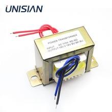 UNISIAN AC הכפול 18v 50W שנאי קלט AC 110V 220V פלט כפול AC18V אספקת חשמל שנאי עבור amplifer או טון לוח