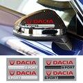 Новый Модный комплект из 2 предметов стайлинга автомобилей стикеры наклейки на зеркало заднего вида для Dacia Duster Logan Sandero Lodgy стайлинга автомо...