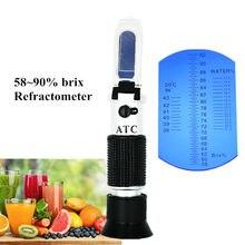 Ręczny refraktometr do miodu Brix Be Water 3 w 1 58 ~ 90% brix do kontrolowania stężeń syropu z ATC 30% OFF